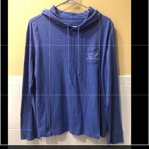 Vineyard Vines long sleeve periwinkle blue hoodie